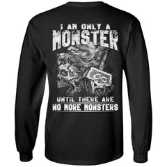 Viking T-shirt, Double sided T-shirt, Only monster, BlackApparel[Heathen By Nature authentic Viking products]