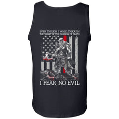 Viking T-shirt, Fear no evil, BackApparel[Heathen By Nature authentic Viking products]Cotton Tank TopBlackS