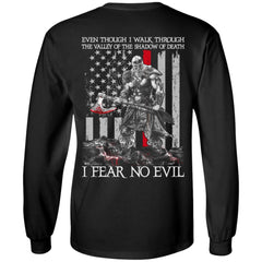 Viking T-shirt, Fear no evil, BackApparel[Heathen By Nature authentic Viking products]Long-Sleeve Ultra Cotton T-ShirtBlackS