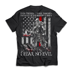 Viking T-shirt, Fear no evil, BackApparel[Heathen By Nature authentic Viking products]Next Level Premium Short Sleeve T-ShirtBlackX-Small