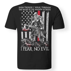 Viking T-shirt, Fear no evil, BackApparel[Heathen By Nature authentic Viking products]Premium Men T-ShirtBlackS