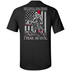Viking T-shirt, Fear no evil, BackApparel[Heathen By Nature authentic Viking products]Tall Ultra Cotton T-ShirtBlackXLT