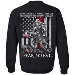Viking T-shirt, Fear no evil, BackApparel[Heathen By Nature authentic Viking products]Unisex Crewneck Pullover SweatshirtBlackS