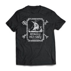 Viking T-shirt, Really old navy, frontApparel[Heathen By Nature authentic Viking products]Next Level Premium Short Sleeve T-ShirtBlackX-Small