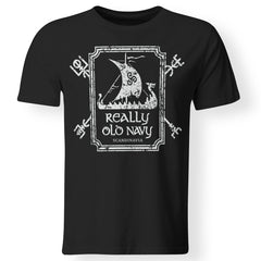 Viking T-shirt, Really old navy, frontApparel[Heathen By Nature authentic Viking products]Premium Men T-ShirtBlackS