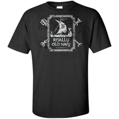 Viking T-shirt, Really old navy, frontApparel[Heathen By Nature authentic Viking products]Tall Ultra Cotton T-ShirtBlackXLT