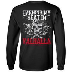 Viking T-shirt, Seat in Valhalla, Valknut, double sidedApparel[Heathen By Nature authentic Viking products]