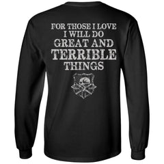 Viking T-shirt, Viking love, Terrible things, double sidedApparel[Heathen By Nature authentic Viking products]