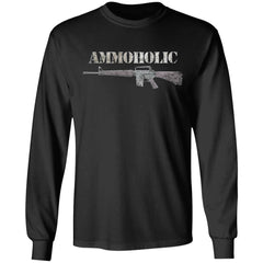 Viking Tshirt Apparel, Ammoholic, FrontApparel[Heathen By Nature authentic Viking products]Long-Sleeve Ultra Cotton T-ShirtBlackS