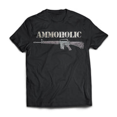 Viking Tshirt Apparel, Ammoholic, FrontApparel[Heathen By Nature authentic Viking products]Next Level Premium Short Sleeve T-ShirtBlackX-Small