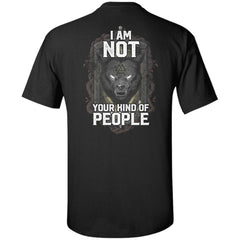 Viking Tshirt Apparel, I Am Not Your Kind Of People, BackApparel[Heathen By Nature authentic Viking products]Tall Ultra Cotton T-ShirtBlackXLT