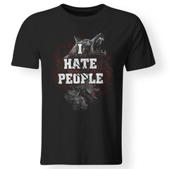 Viking Tshirt Apparel, I Hate People, FrontApparel[Heathen By Nature authentic Viking products]Premium Men T-ShirtBlackS