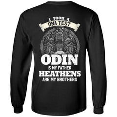 Viking Tshirt Apparel, I Took A DNA Test, BackApparel[Heathen By Nature authentic Viking products]Long-Sleeve Ultra Cotton T-ShirtBlackS