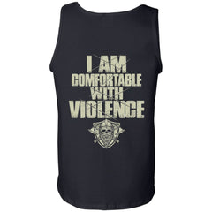 Viking Tshirt, comfortable, violence, backApparel[Heathen By Nature authentic Viking products]Cotton Tank TopBlackS