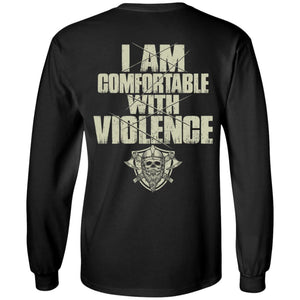 Viking Tshirt, comfortable, violence, backApparel[Heathen By Nature authentic Viking products]Long-Sleeve Ultra Cotton T-ShirtBlackS
