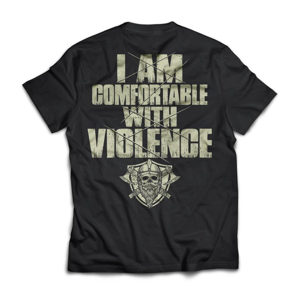 Viking Tshirt, comfortable, violence, backApparel[Heathen By Nature authentic Viking products]Next Level Premium Short Sleeve T-ShirtBlackX-Small