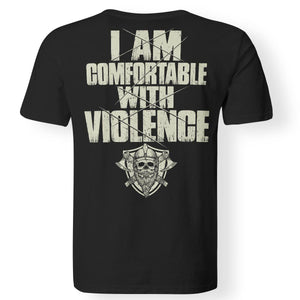 Viking Tshirt, comfortable, violence, backApparel[Heathen By Nature authentic Viking products]Premium Men T-ShirtBlackS