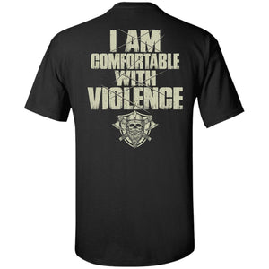 Viking Tshirt, comfortable, violence, backApparel[Heathen By Nature authentic Viking products]Tall Ultra Cotton T-ShirtBlackXLT