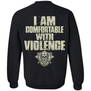 Viking Tshirt, comfortable, violence, backApparel[Heathen By Nature authentic Viking products]Unisex Crewneck Pullover SweatshirtBlackS