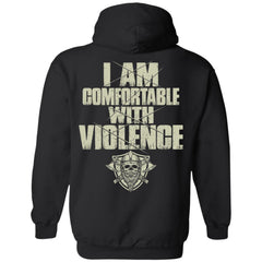 Viking Tshirt, comfortable, violence, backApparel[Heathen By Nature authentic Viking products]Unisex Pullover HoodieBlackS