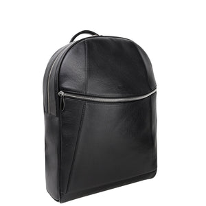 handmade luxury leather backpack angle