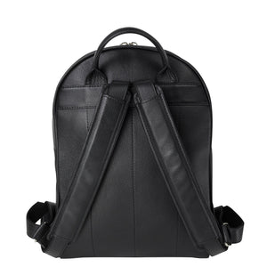 handmade luxury leather backpack back