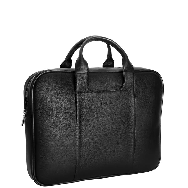 handmade luxury leather classic briefcase angle