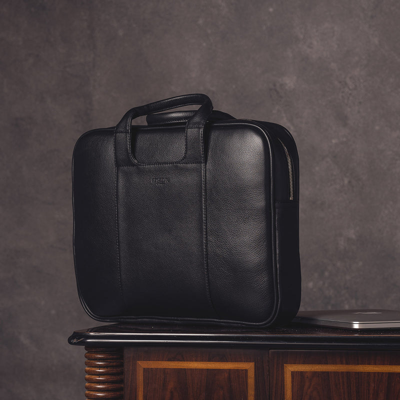 handmade luxury leather classic business briefcase for the office