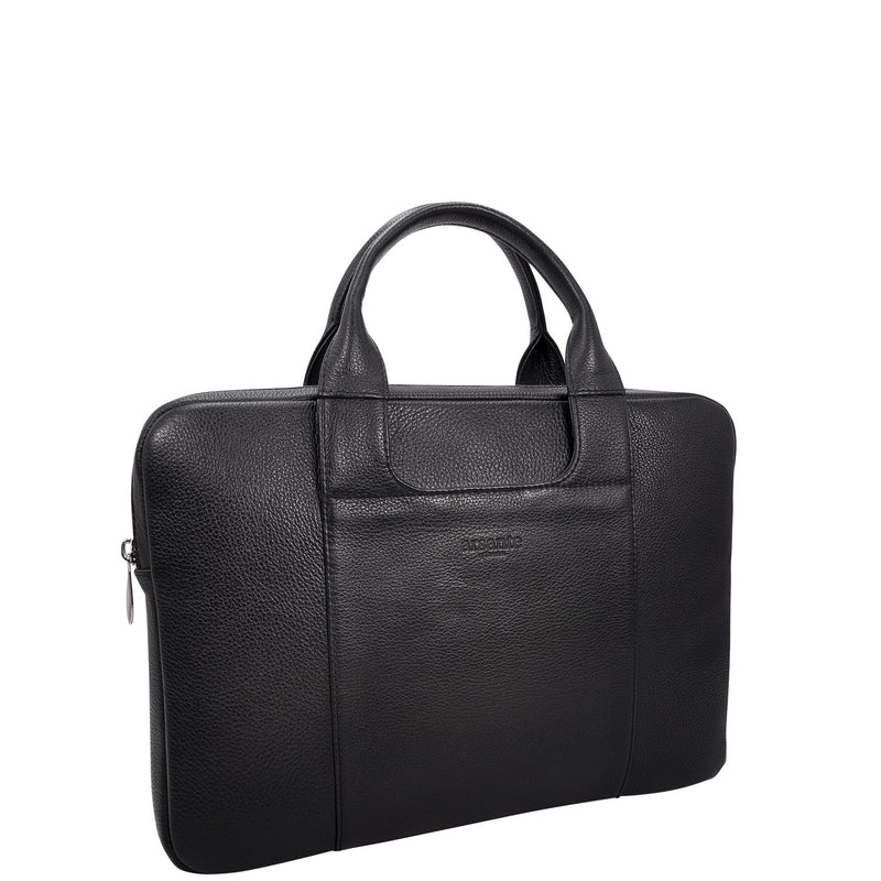 handmade luxury leather briefcase classica angle