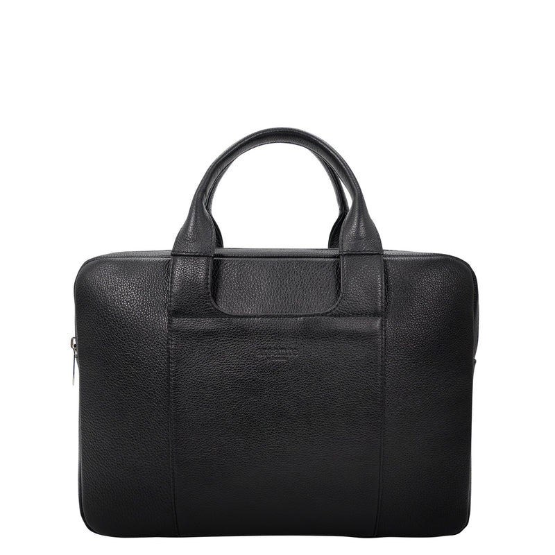 handmade luxury leather briefcase classica front