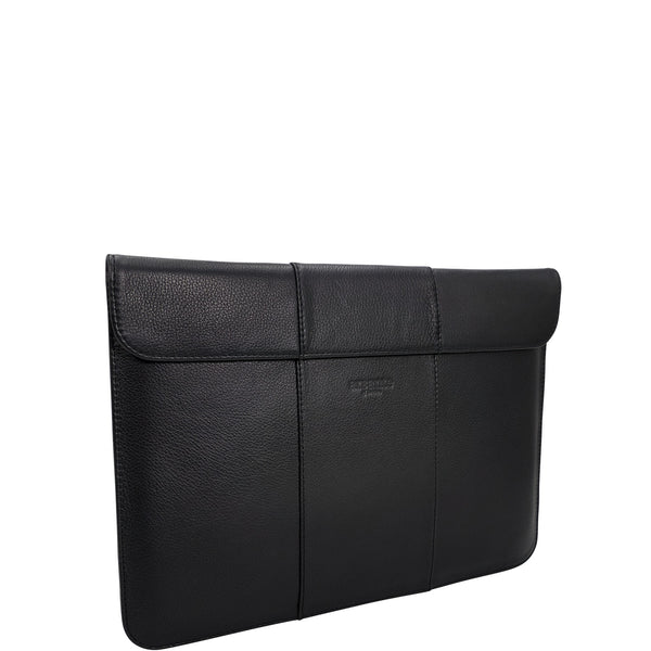 handmade luxury leather laptop imac sleeve angle