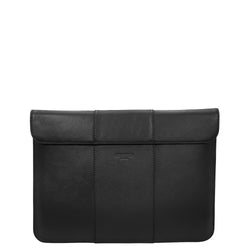 handmade luxury leather laptop imac sleeve front