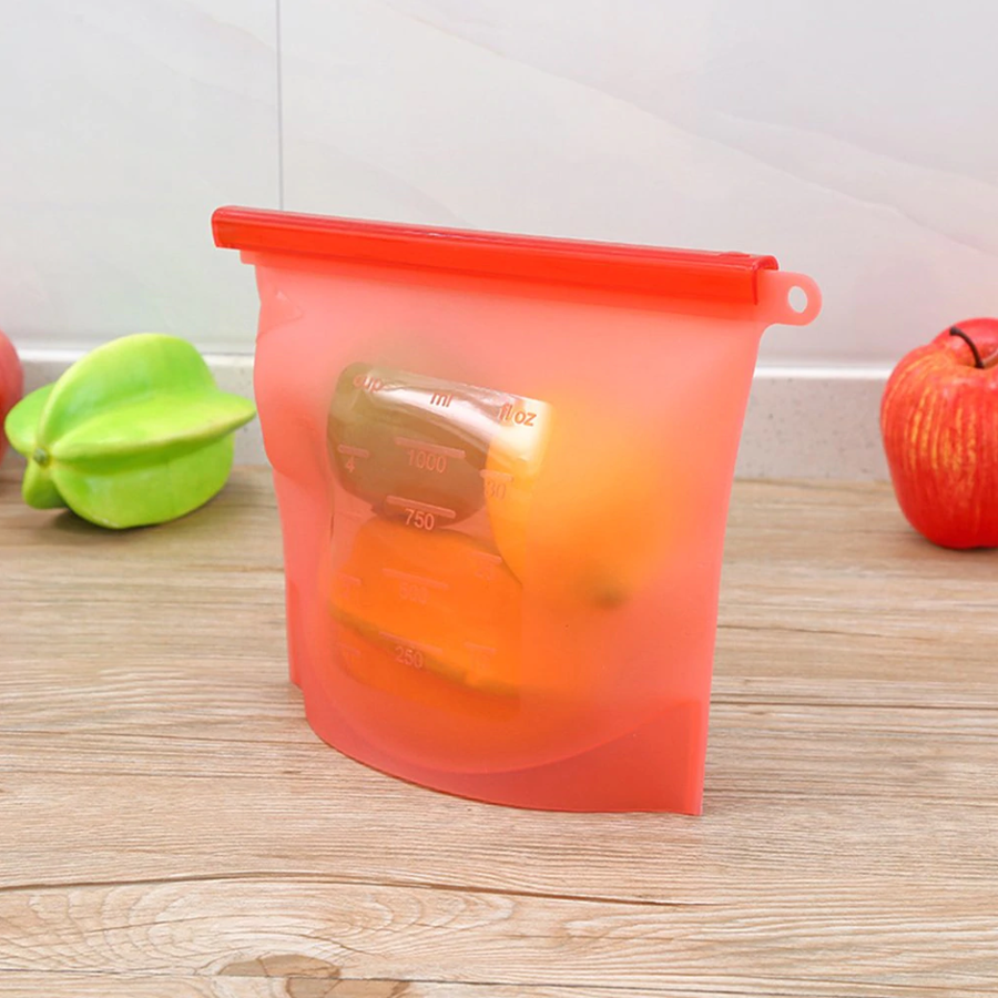 Reusable Silicone Seal Food Bag