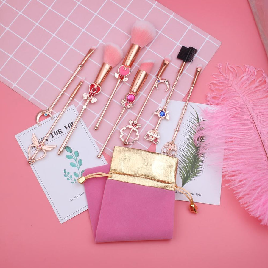 Bejeweled Makeup Brush Set