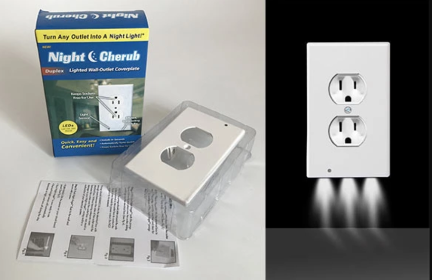 LED Outlet Wall-Plate Night Lights