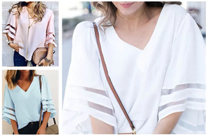 Bell Sleeve Loose Summer Blouse