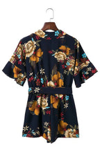 Load image into Gallery viewer, Belted Floral Playsuit