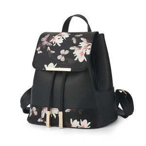 Floral Drawstring Backpack