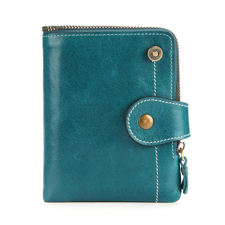 Short Wallet Genuine Leather