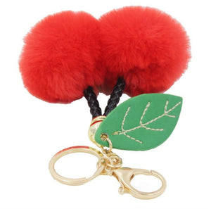 Fluffy Cherry Bag Charm