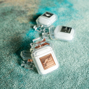 Luxury Crystal Perfume Bottle Airpods Protective Case Cover