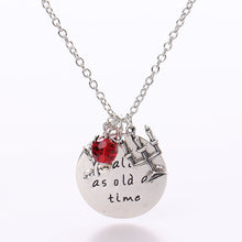 Load image into Gallery viewer, Charm Necklace *Tale As Old As Time*