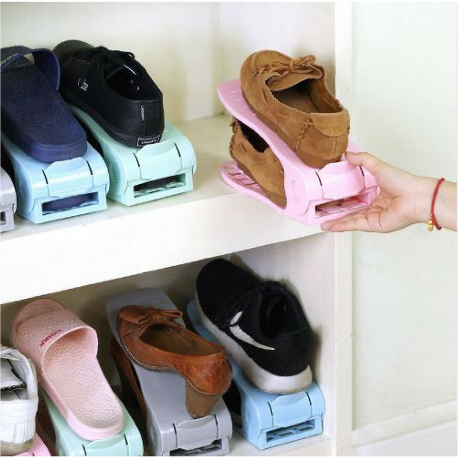 Double Decker Shoe Rack