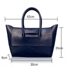 Load image into Gallery viewer, Flap Over Tote (Synthetic Leather)