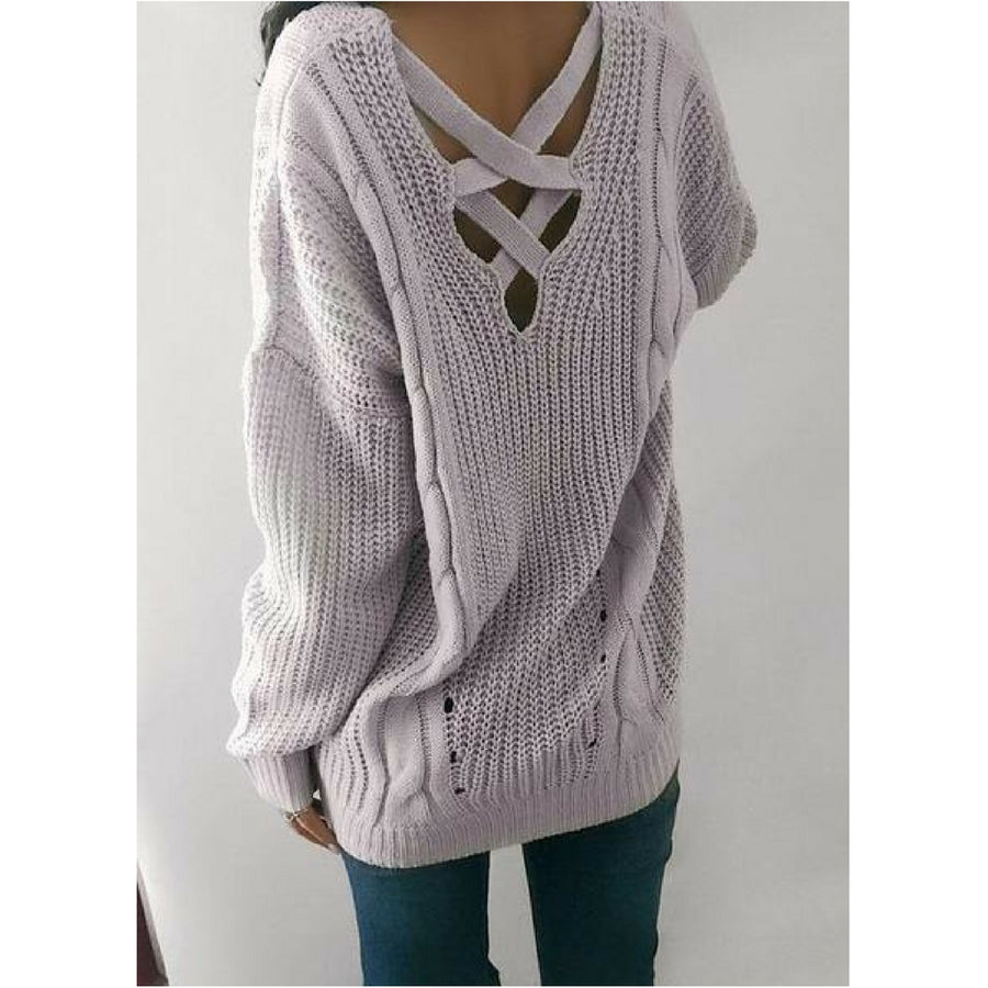 Knit-Back Sweater