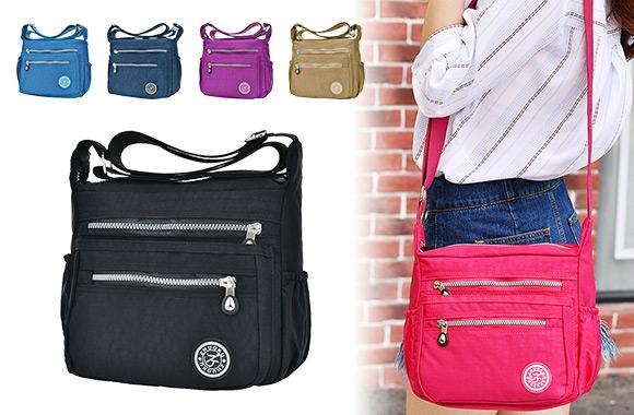 Multi-Pocket Crossbody Satchel