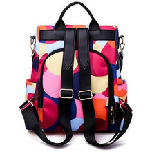 Load image into Gallery viewer, Abstract Pattern Printing Anti-Theft Backpack