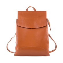 Load image into Gallery viewer, Cute Leather Shoulder Backpack