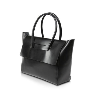 Flap Over Tote (Genuine Leather)