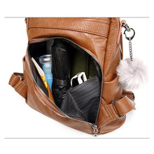 Load image into Gallery viewer, Soft Leather Tote Casual Backpack